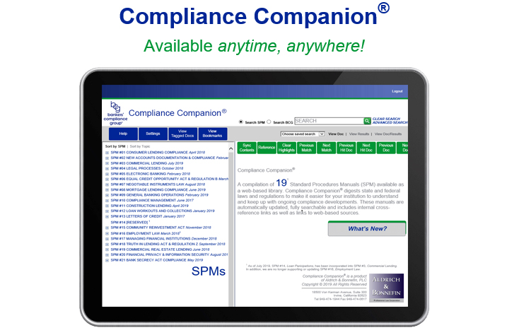 Compliance Companion Mobile Device View